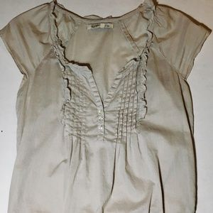 Old Navy ruffle-front blouse